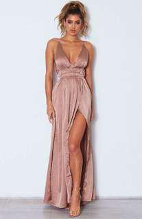 Rose Bronze Maxi Dress