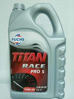 Fuchs Titan Race Pro S 10w50 Silkolene Ester Fully Synthetic Engine Oil
