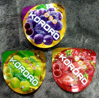 Permen Kororo gummy jelly candy UHA