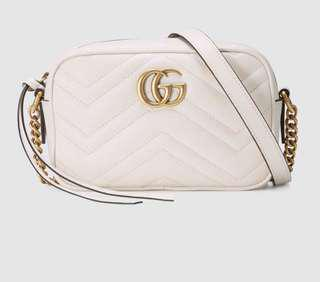 GUCCI marmont系列白色小包