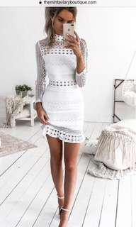 Mint aviary white dress