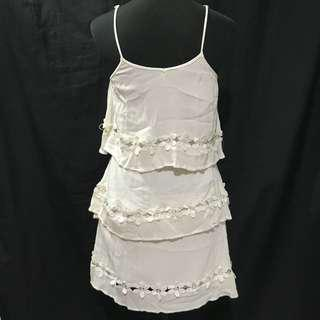 Off White Boho Laced Dress