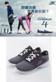 🚚 全新美國代購SKECHERS 女鞋 健走系列 GO Walk 4 - 黑粉14146BKHP 尺碼US5.5/22.5CM