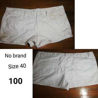 Preloved plus size shorts size 40