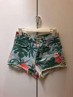 Zara Floral Denim Shorts (High Waisted)