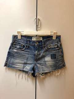 Abercrombie & Fitch Denim Shorts (Mid Waist)