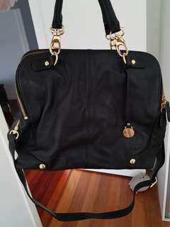 Tilkah Leather Bag - Black & Gold