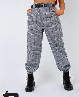 I AM GIA COBAIN PANTS CHECKERED