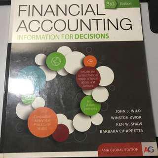 Financial Accounting Acc1002/Acc1701