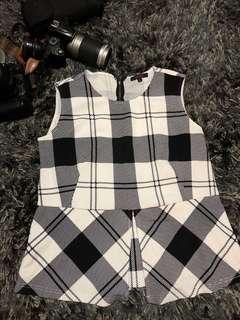 Vivant Checkered Blouse