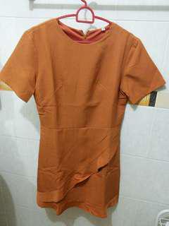 BN Orange Work Dress