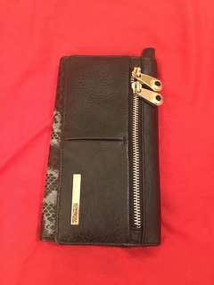 Kenneth Cole leather and snake skin long wallet