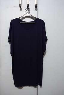 True Clothing Navy Tshirt Dress