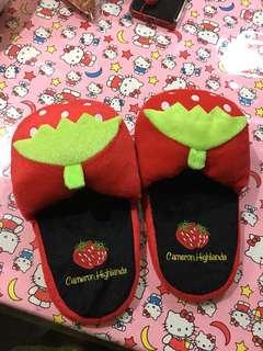Strawberry cute flip flops
