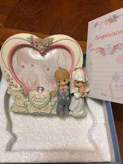 全新PRECIOUS MOMENTS陶瓷結婚相架