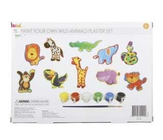 Paint Your Own Wild Animals Plaster Set