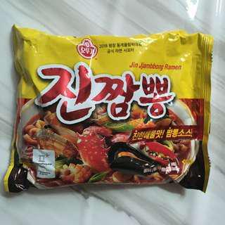 現貨 韓國帶回 不倒翁真海鮮湯麵 真炒碼麵 오뚜기 진짬뽕 泡麵 拉麵