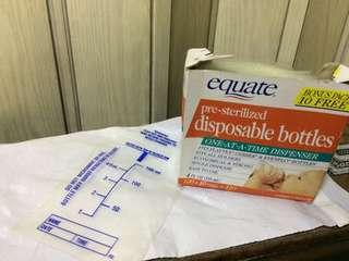 Disposable bottle liners drop ins