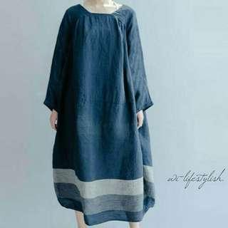(PO) Navy Blue S11 Baggy Dress