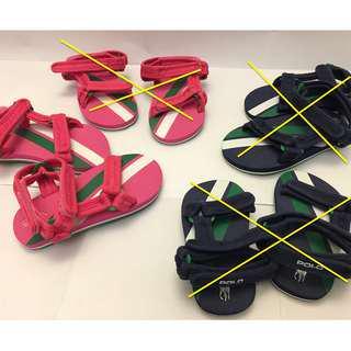 [全新] POLO 涼鞋 Sandal 沙灘鞋 小童 女童 魔術貼 (前中後可調) (100% new)