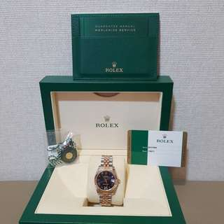 Rolex - Datejust 31mm Oystersteel and Everose Gold Purple Dial
