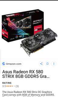 3x Asus strix RX580 Strix 8GB gaming triple fan