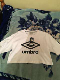 Women's umbro cropped tee brand new