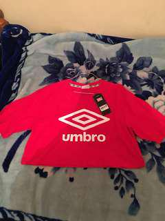 Umbro cropped tee brand new with tags