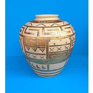 Ornamental Porcelain Greek Pattern Flower Vase Hand-painted Wine Jar