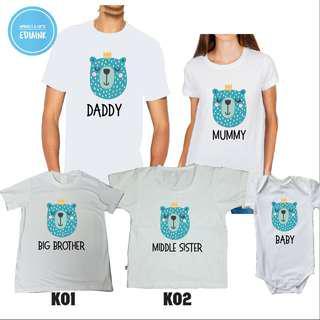 Customised Family Set Tshirt - Animal Series