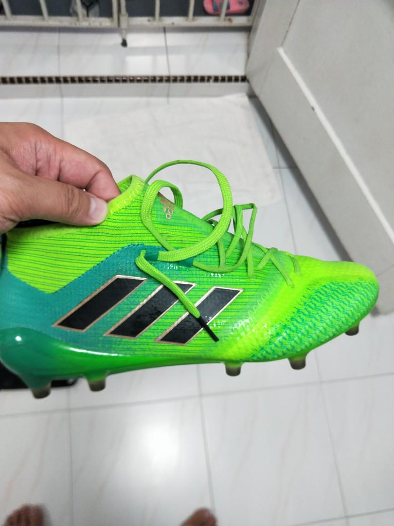 100% authentic aec69 63332 Adidas ACE 17.1 Primeknit solar green/core black, Sports ...