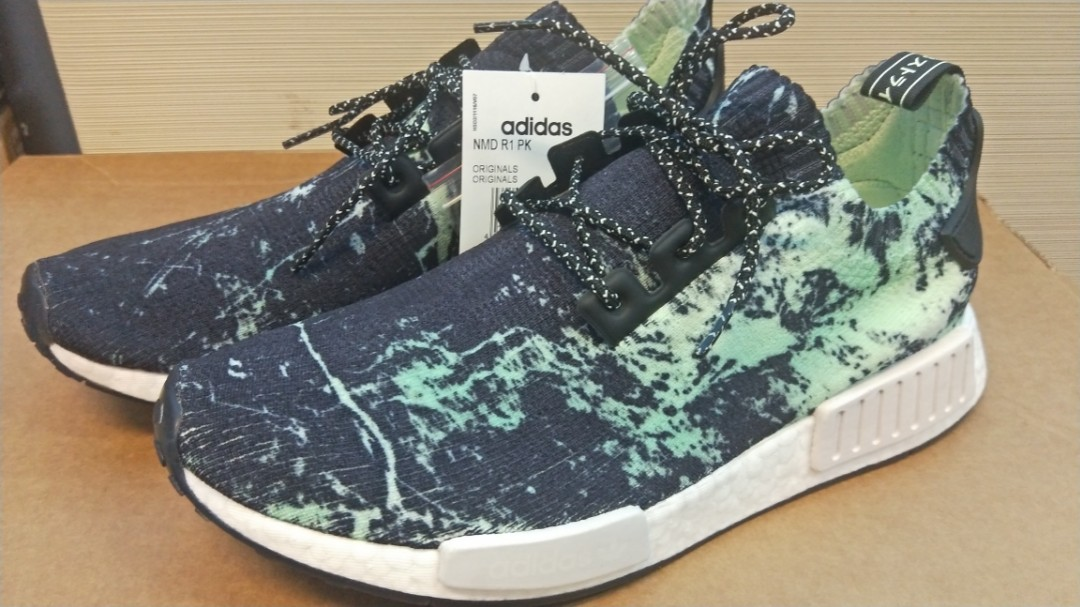 huge discount acaa4 5d11c Adidas NMD R1 PK Green Marble, Men's Fashion, Footwear ...