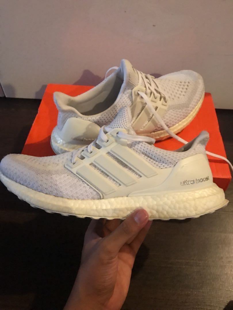 3e724ca09 Adidas Ultra Boost triple white