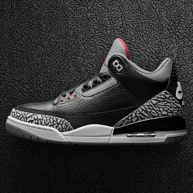 size 40 12653 c215f Air Jordan 3 Retro Black Cement