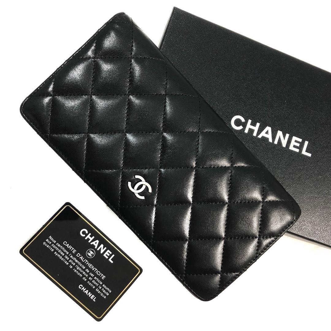 12284504524d9d Authentic Chanel Bi Fold Porte Yen Leather Wallet, Luxury, Bags ...