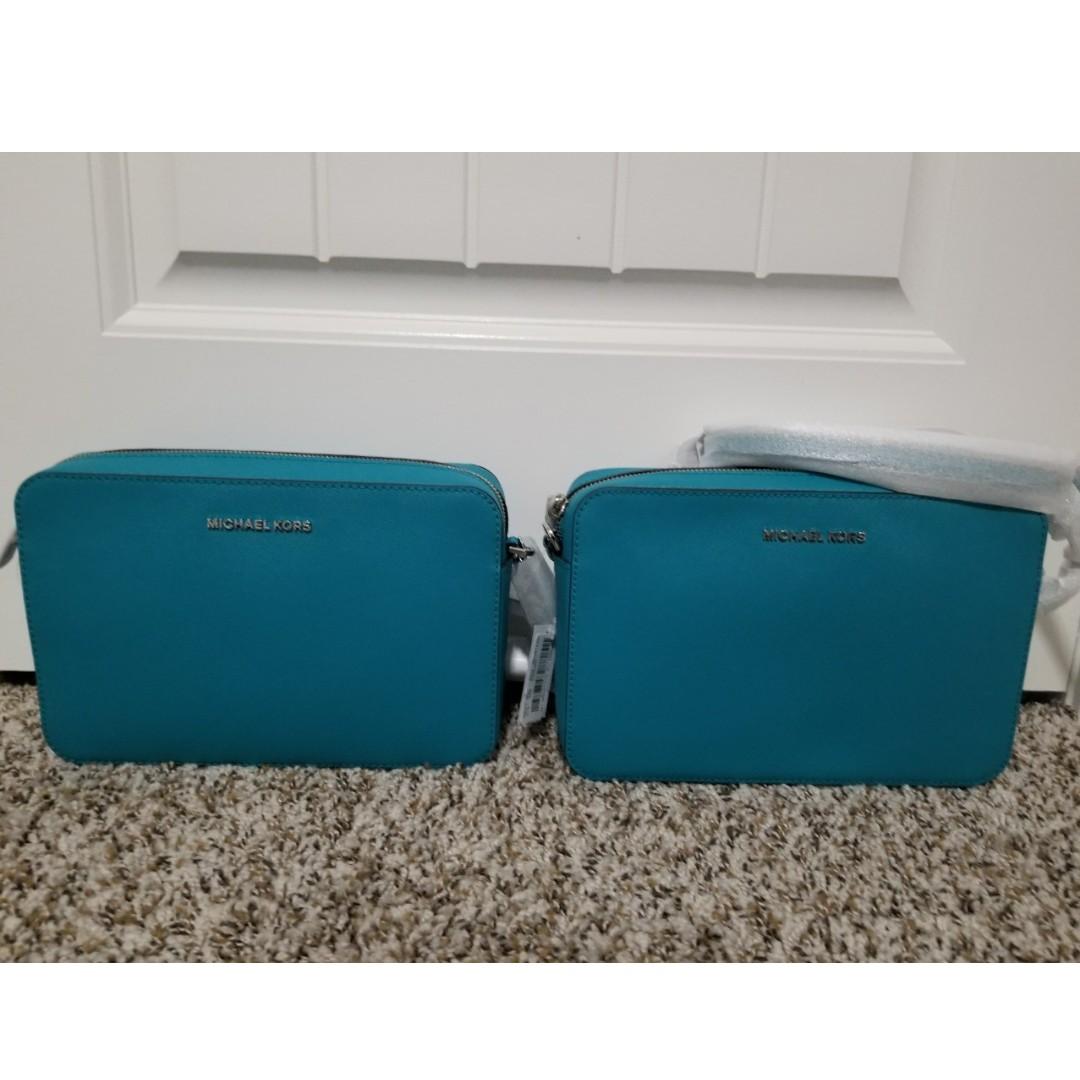 06708924cc6b42 Authentic Michael kors large ew crossbody bag - tile blue, Luxury ...