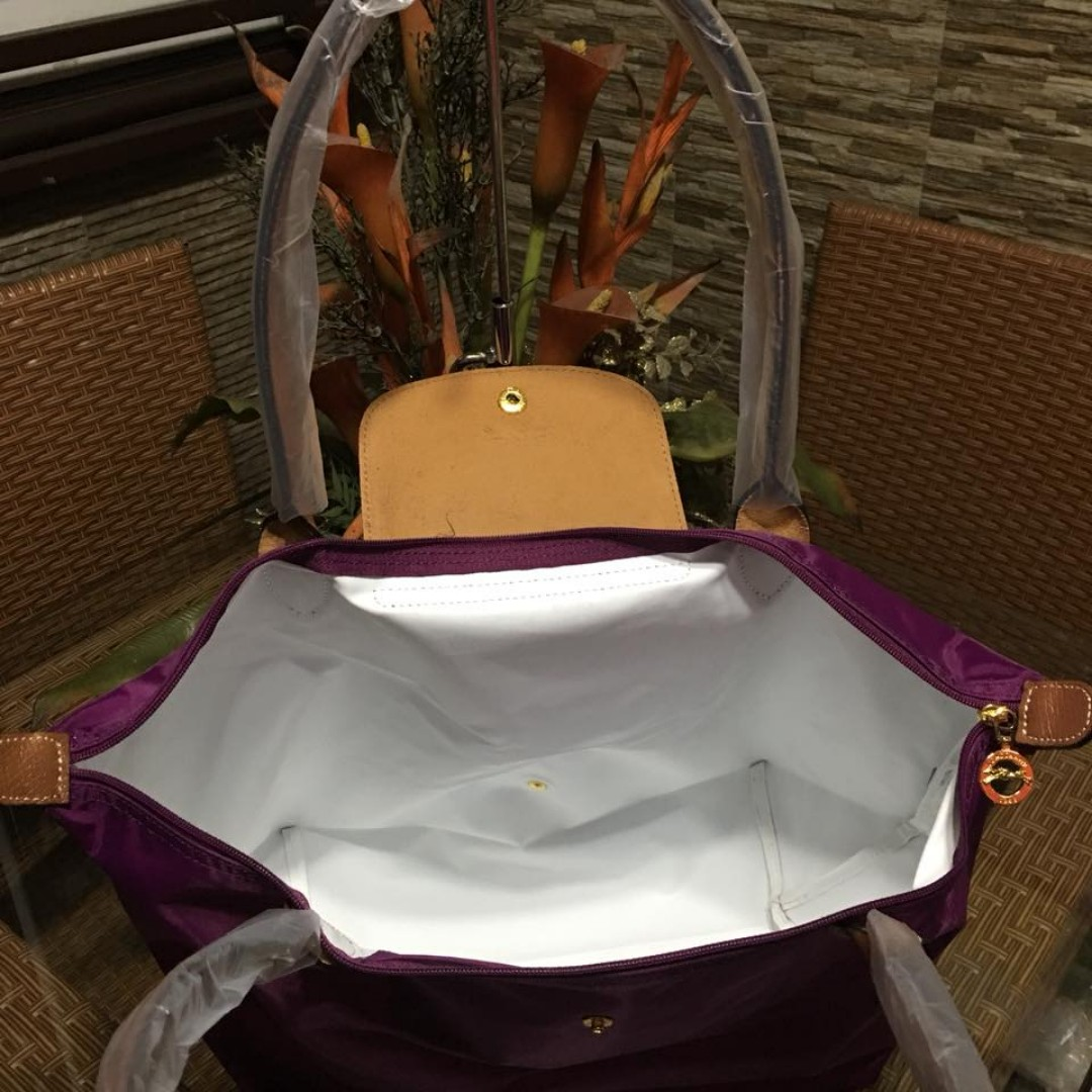 Authentic Original Longchamp LE Pliage Neo Tote Bag Long Handle Shoulder Bag  FOLDABLE from Vietnam Large Size Women s Bag VIOLET d8fc084022372