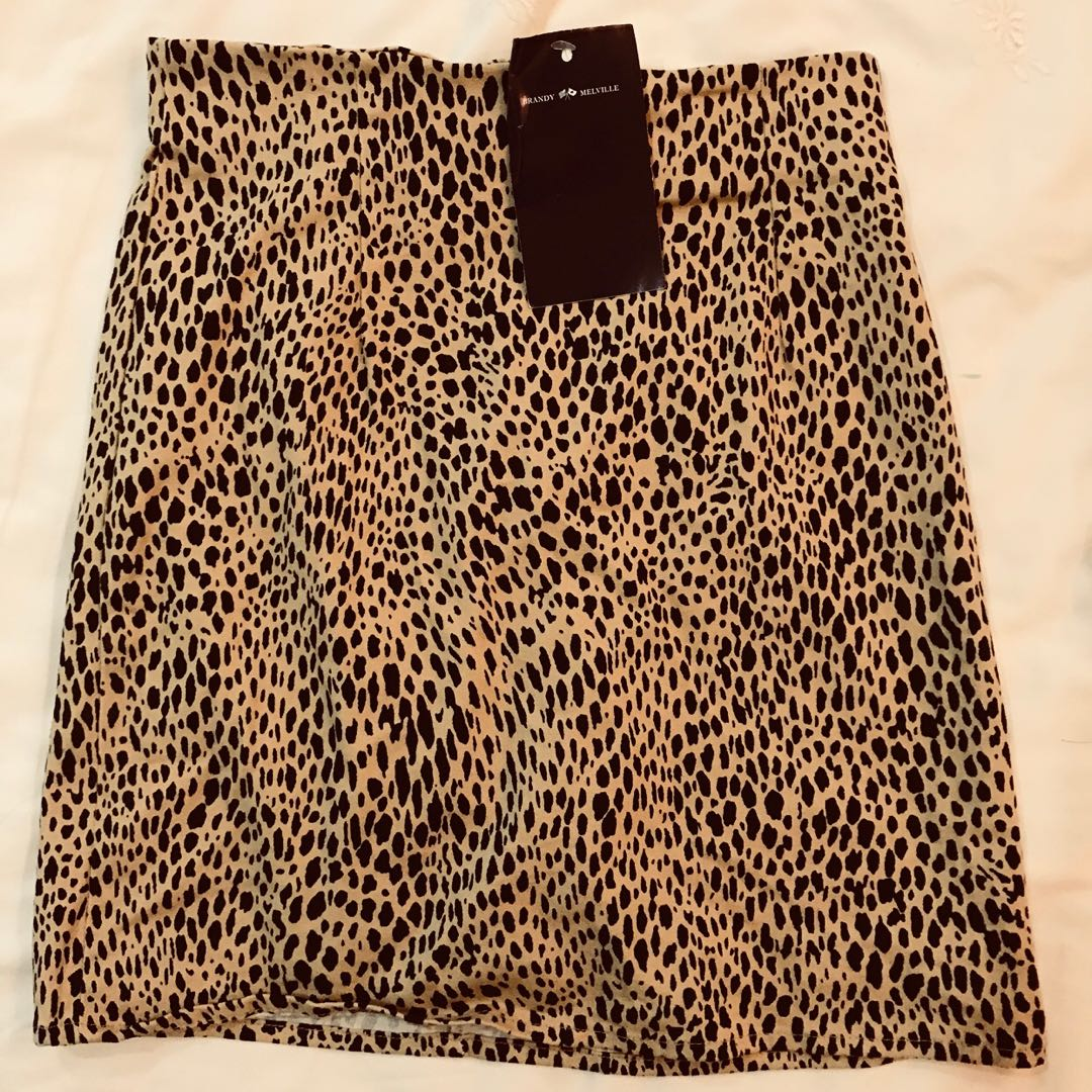 0242362917a BNWT brandy Melville nia leopard print bodycon mini skirt authentic ...