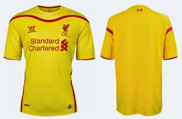discount 93a90 e7281 BNWT Liverpool 2014/15 Away Yellow jersey Men's Small size ...