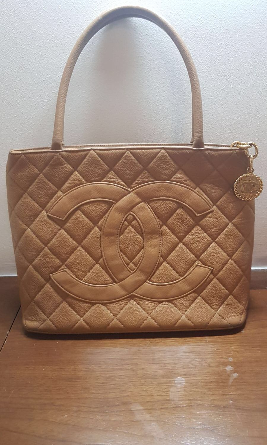 38e9360ca04a Chanel brown medallion tote, Luxury, Bags & Wallets on Carousell