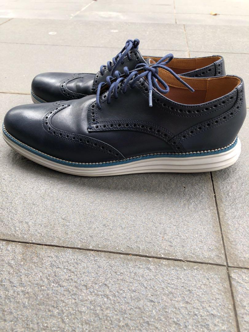 Cole Haan Wingtip Blue Navy Leather