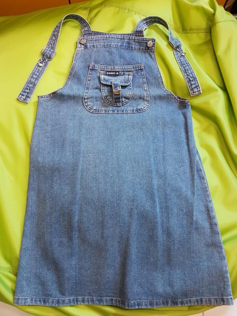 f3de51a4cd Denim overall dress, Babies & Kids, Girls' Apparel, 8 to 12 Years on ...