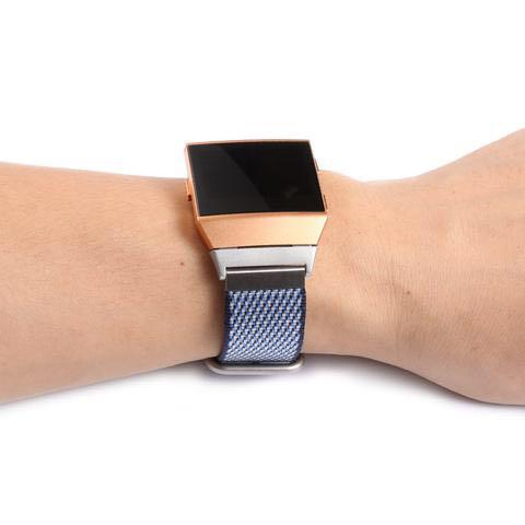 FITBIT IONIC REPLACEMENT STRAP - NEW RELEASE SPORTS ROYAL WOVEN NYLON BRACELET STRAP