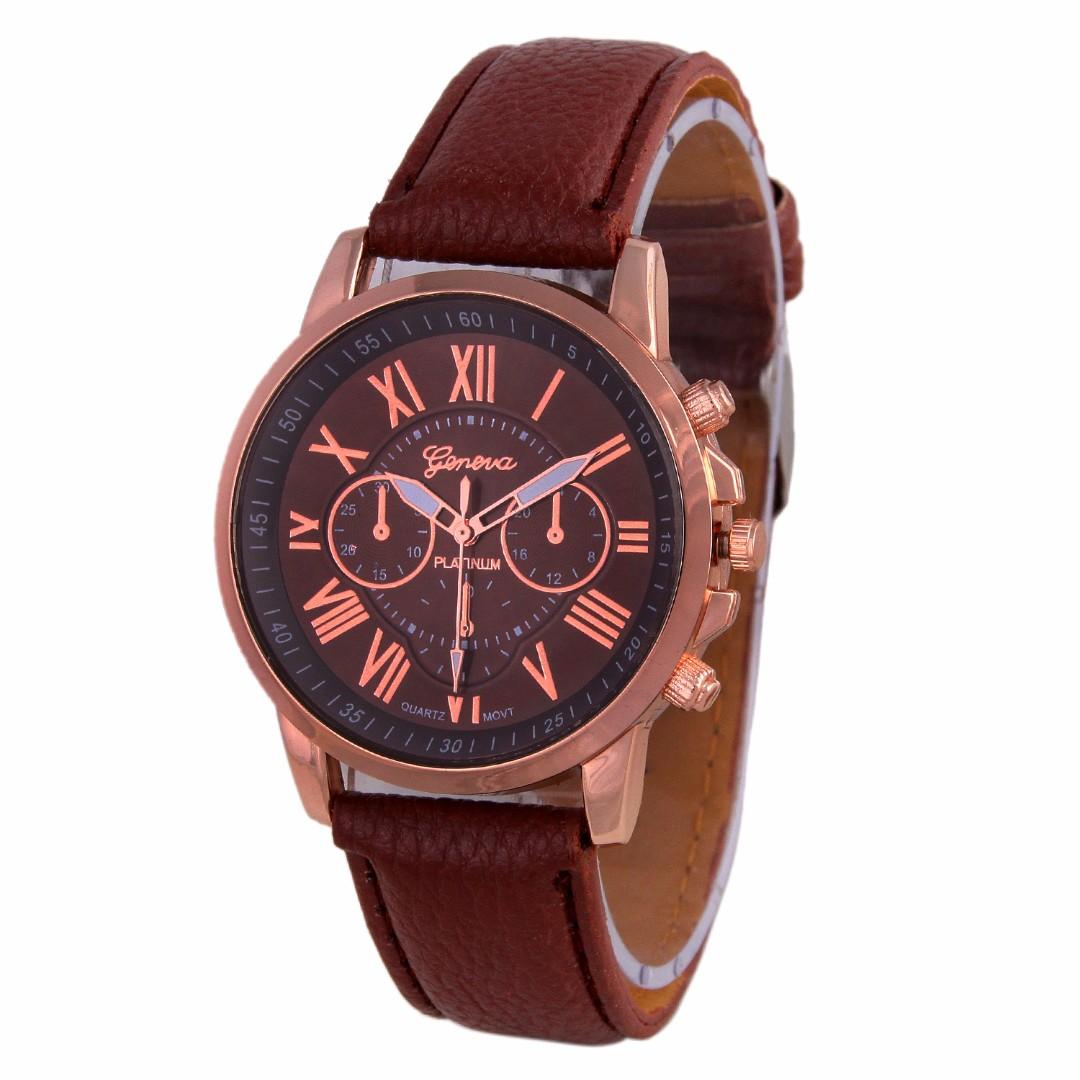 8f31bf29d Geneva WTH-001-GENEVA-Brown Women s PU Leather Watch