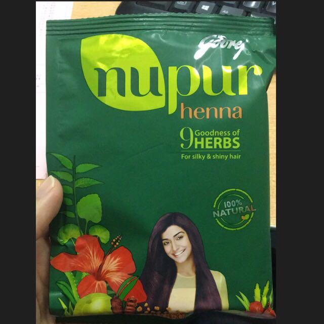 Godrej Nupur Henna Hair Dye 100 Natural Health Beauty Hair