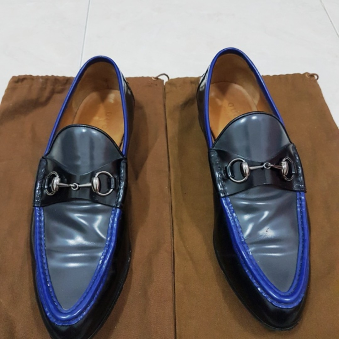 Gucci blue black patent loafer original not hermes bally LV salvatore tods 26c2f7377b