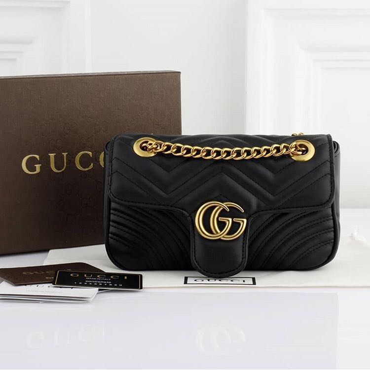 adcaba1e8f60 Gucci marmont black edition, Luxury, Bags & Wallets on Carousell