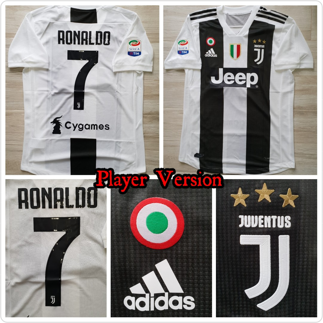 abb1f5426b5 Juventus home 18 19 jersey player version