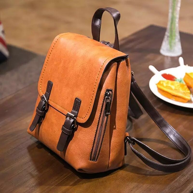 08ecd55af550 Ladies Backpack Small Mini Leather School Office Work Bag for Girls ...
