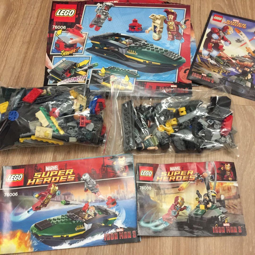 Lego Marvel iron man 3 Attack on Malibu Mansion set
